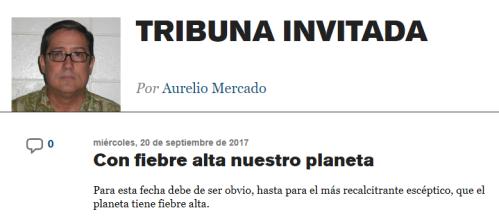 Endi_com Tribuna Invitada - Con Fiebre Alta Nuestro Planeta
